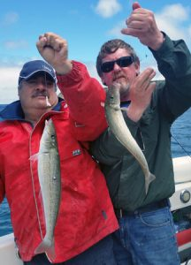 "George Geriege and Lockie Wombell with a ""double"" off Portland over the weekend."