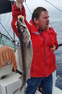 Lockie Wombell with a nice gemfish taken out wide from Portland (Picture: Bob McPherson).