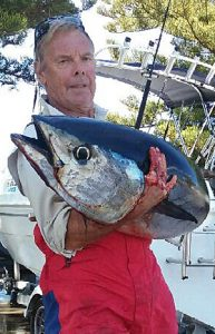 Allan Kilpatrick with his 23kg tuna (Picture: Greg Kilpatrick).