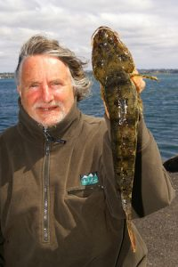 Martin de Lange with the rock flathead he caught at Limeburners Point.