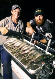Matt Wright and Aaron Habgood with their whiting catch off St Leonards (Picture: Aaron McLoughlin).