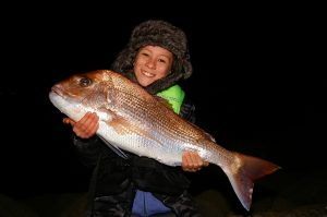 Red alert: Eleven year old Jordan with his 6.5 kg snapper from Corio Bay.