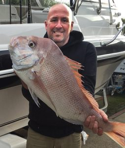 Murray Stewart with a 6 kg snapper he caught from Corio Bay over the weekend.