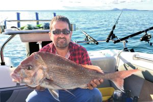 John Formosa with a 6 kg snapper taken near Point Henry (Picture: Cody Formosa).